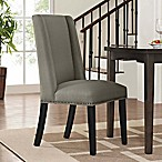 Modway Baron Fabric Dining Side Chair in Granite