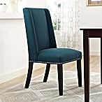 Modway Baron Fabric Dining Side Chair in Azure