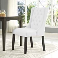 Modway Baronet Vinyl Dining Side Chair in White