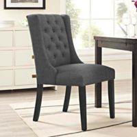 Modway Baronet Upholstered Dining Side Chair in Grey