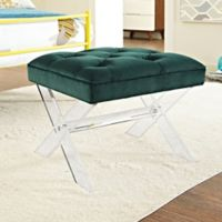 Modway Swift Padded Bench in Green