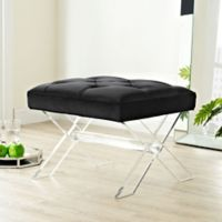 Modway Swift Padded Bench in Black
