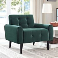 Modway Delve Velvet Armchair in Green