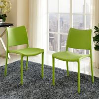Modway Hipster Dining Side Chairs in Green (Set of 2)