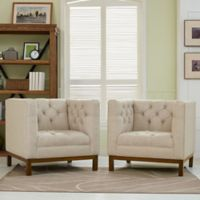 Modway Panache Living Room Chairs in Beige (Set of 2)