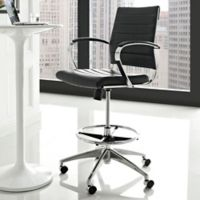 Modway Jive Swivel Office Chair in Black/Chrome
