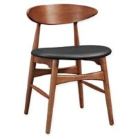 Modway Ebee Dining Side Chair in Walnut Black
