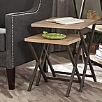 Donny Osmond Home Vintage Industrial Nesting Table in Rustic