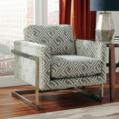 Donny Osmond Home Accent Chair In White/Grey