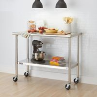 Trinity EcoStorage™ 48-Inch NSF Table with Wheels in Stainless Steel