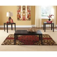 Flash Furniture Birstrom 3-Piece Table Set in Black