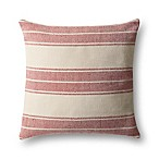 Magnolia Home by Joanna Gaines Carter Square Throw Pillow in Red/Ivory