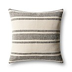 Magnolia Home by Joanna Gaines Carter Square Throw Pillow in Black/Ivory