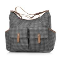Babymel™ Frankie Pixel Dot Diaper Bag in Black