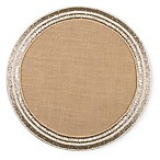 Semi-Beaded Jute Round Placemat in Natural