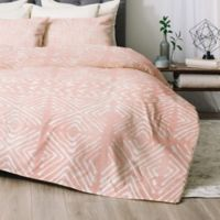 Deny Designs Stars Above Queen Comforter Set in Coral