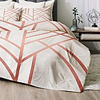 Deny Designs Art Deco Queen Comforter Set in Rose Gold