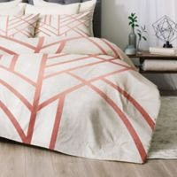 Deny Designs Art Deco Twin/Twin XL Comforter Set in Rose Gold