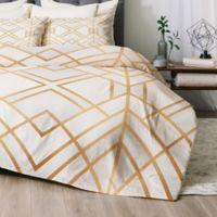 Deny Designs Golden Geo Queen Comforter Set in Gold