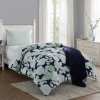 Lacey 16-Piece Twin/Twin XL Comforter Set in Navy