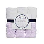 Hello Spud 3-Pack Petite Ruffle Organic Cotton Washcloths in Lavender