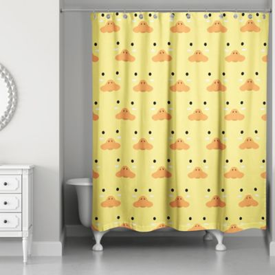 Merveilleux Designs Direct Duck Face Friend Shower Curtain In Yellow