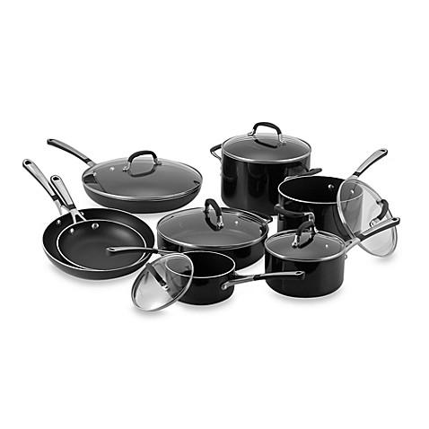 simply calphalon black enamel nonstick 14piece cookware set - Calphalon Cookware Set