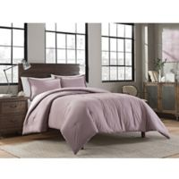 Garment Washed Solid King Comforter Set in Lavender