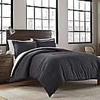 Garment Washed Solid King Comforter Set in Iron