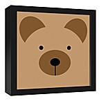 Designs Direct Bear Face Friend 13.7-Inch Square Framed Canvas Wall Art