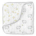 Swaddle Designs® Little Lambs Muslin Luxe Blanket in Silver/White