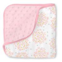 Swaddle Designs® Heavenly Floral Shimmer Snuggle Blanket in Pink
