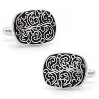 Ox & Bull Trading Co. Silver-Plated and Enamel Filigree Cufflinks