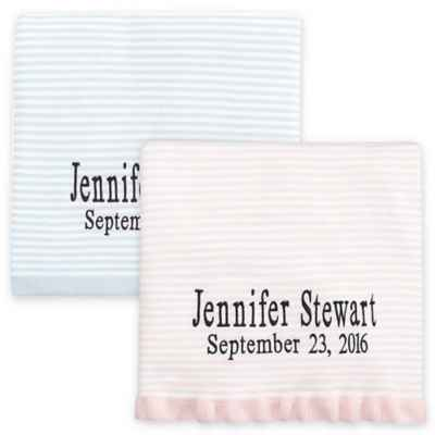 Elegant Baby® Striped Fine Gauge Knit Blanket