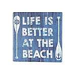 Thirstystone® Occasions Life Is Better At The Beach Square Coaster