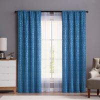 VCNY Villa 95-Inch Rod Pocket Window Curtain Panels in Blue (Set of 4)