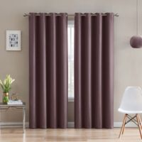 Morse Code 95-Inch Grommet Top Window Curtain Panel in Brick