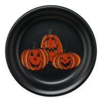 Fiesta® Halloween Trio of Happy Pumpkins Appetizer Plate in Black