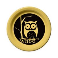 Fiesta® Halloween Whoo Owl Appetizer Plate in Yellow