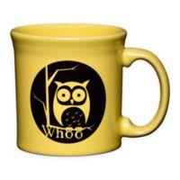 Fiesta® Halloween Whoo Owl Java Mug in Yellow