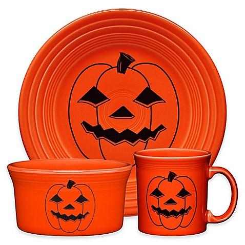 Fiesta 174 Halloween Spooky Pumpkin Dinnerware Collection