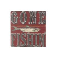 Thirstystone® Occasions Gone Fishin' Cabin Life Square Coaster