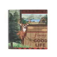 Thirstystone® Occasions Rustic Retreat Deer Square Coaster