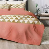 Deny Designs Gold Triangle Queen Comforter Set in Gold