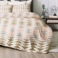 Deny Designs Metallic Triangles Twin/Twin XL Comforter Set in Gold