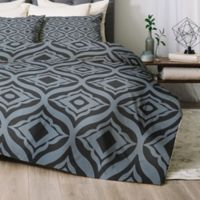 Deny Designs Trevino Dusk Queen Comforter Set in Blue