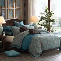 Hampton Hill Lauren 8-Piece Queen Comforter Set in True Blue