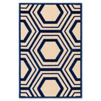 Surya Covina Geometric 2'2 x 3' Accent Rug in Dark Blue