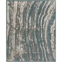 Surya Carlisle Abstract Waves 7-Foot 10-Inch x 9-Foot 10-Inch Area Rug in Cream