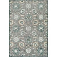 Surya Carlisle Floral Medallion 1-Foot 10-Inch x 2-Foot 11-Inch Accent Rug in Camel